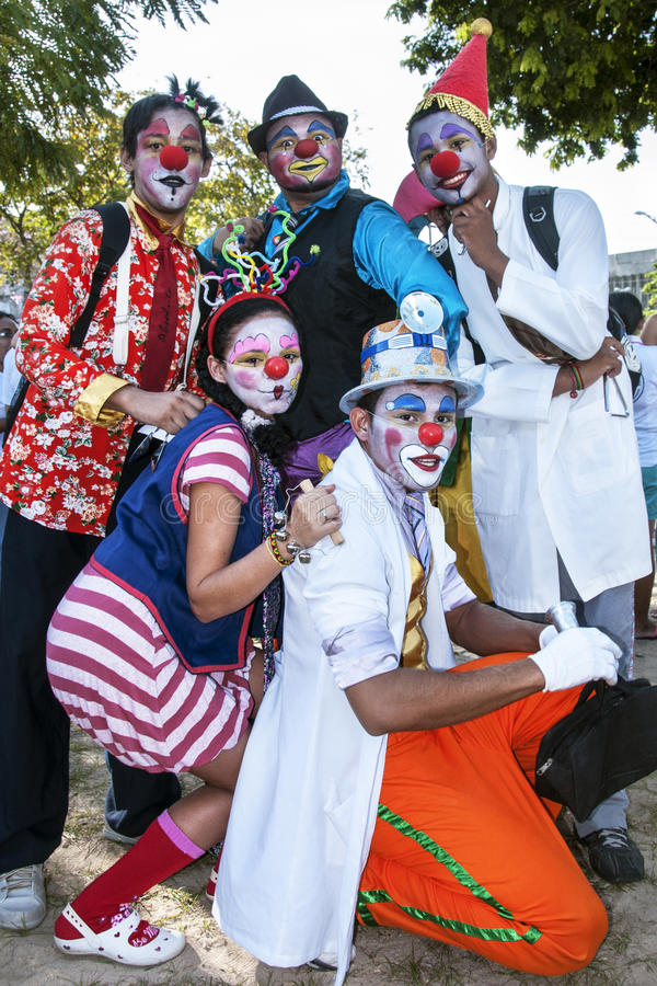 Download Young Street Clowns Editorial Photo - Image: 33972556