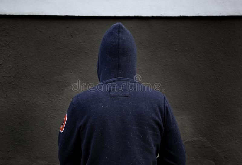Young street gang. Man of street gang, delinquency and drugs, violence royalty free stock photos