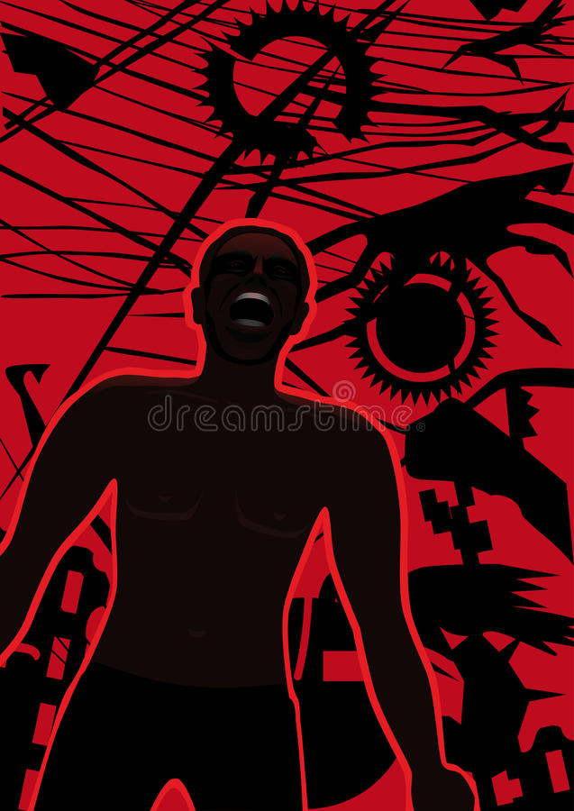 Download A cry of pain and despair stock vector. Illustration of outcry - 30214915