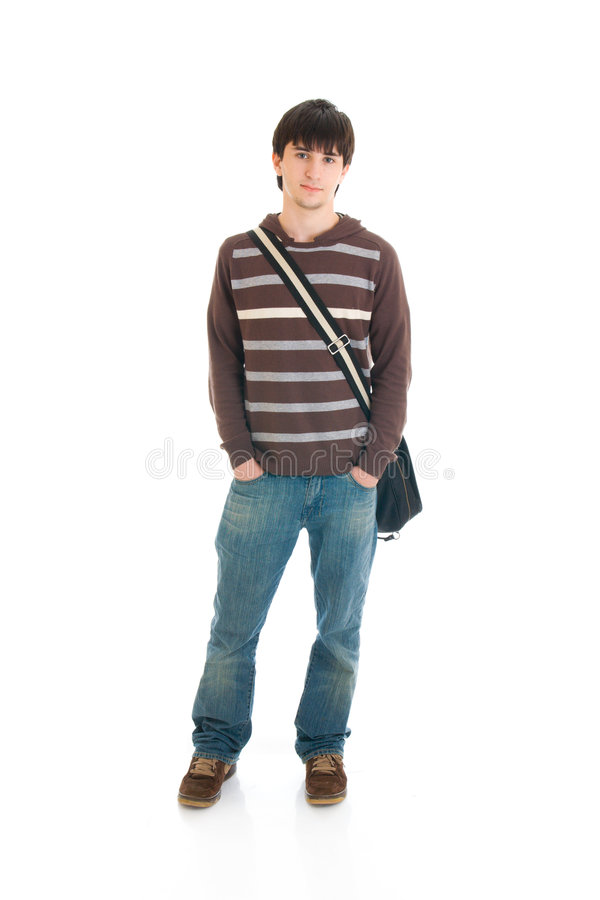 The young student stock photos