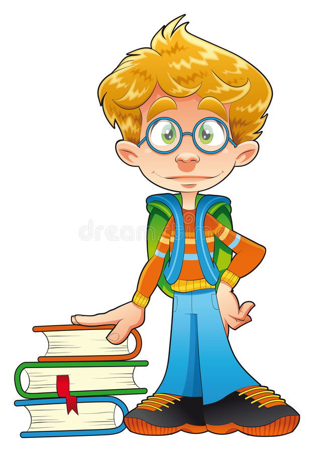 Young student stock illustration