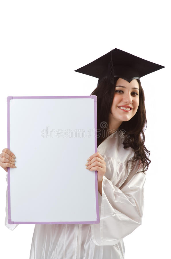 Young Student With  Board Stock Photography