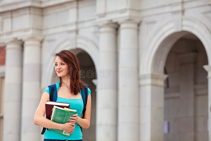 Download Young student on campus stock image. Image of outdoor - 19248103