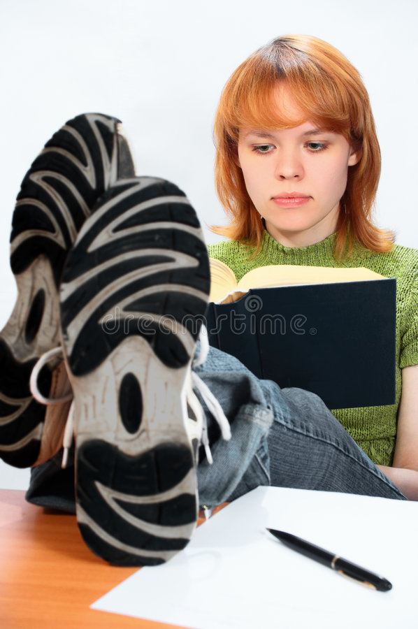 Young student girl stock image