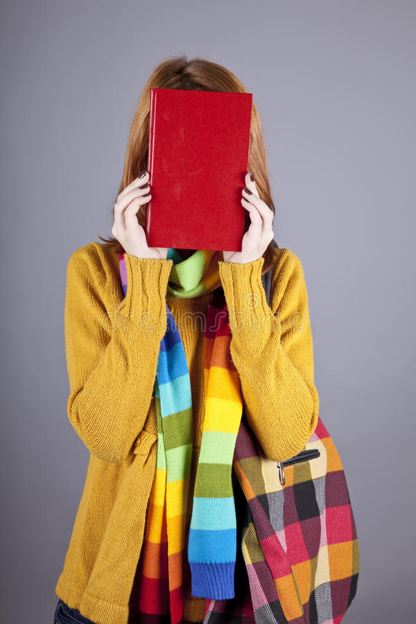 Young student girl with books stock photos