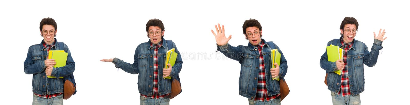 The young student isolated on white stock images