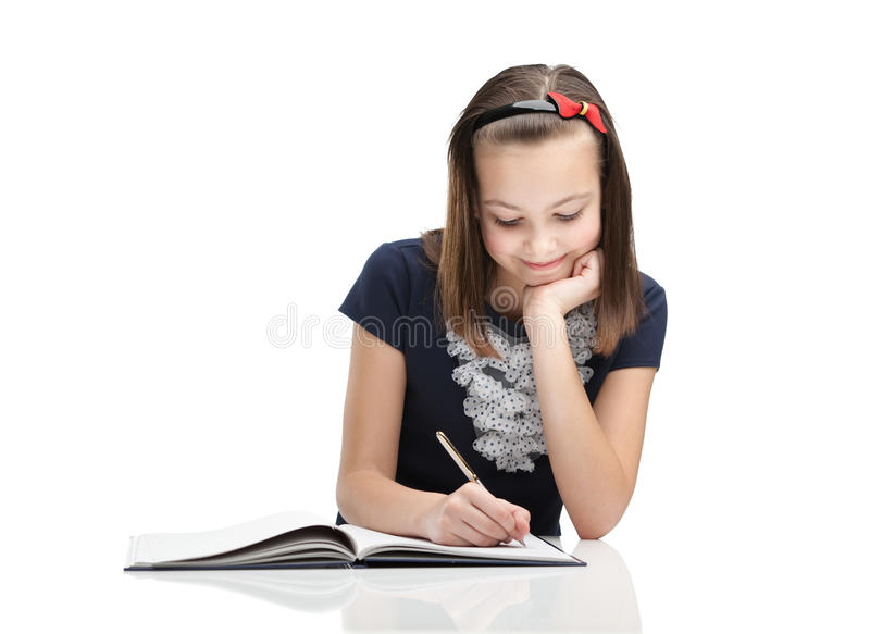 Young student, isolated, white background royalty free stock images