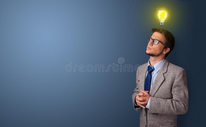 Young student looking for new idea royalty free stock photography