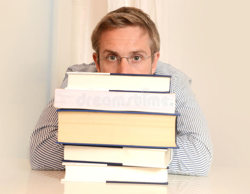 Download Young Student Overwhelmed stock photo. Image of desk - 35584058