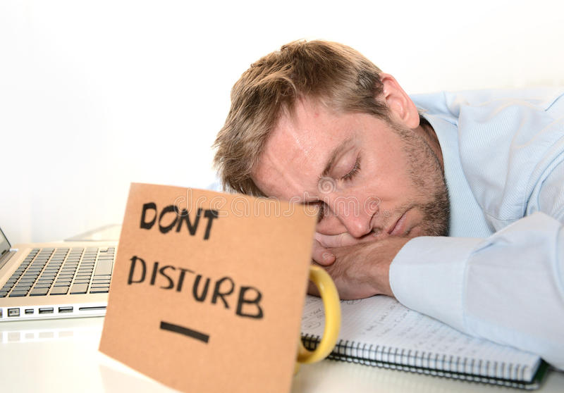 Download Young Student Overwhelmed Dont Disturb Stock Image - Image: 35584267