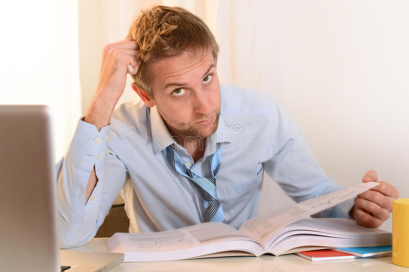 Download Young Student Overwhelmed stock image. Image of business - 35583999