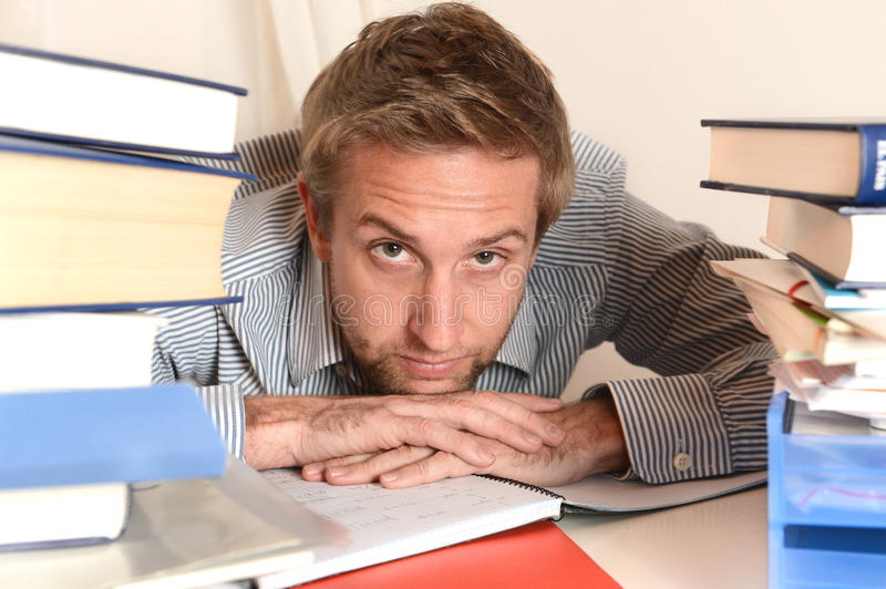 Download Young Student Overwhelmed stock image. Image of student - 35584071