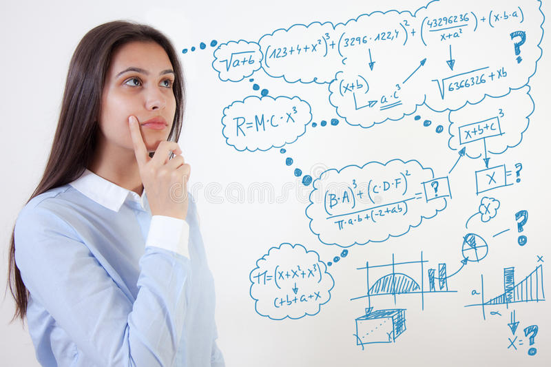 Young student and problems stock photography