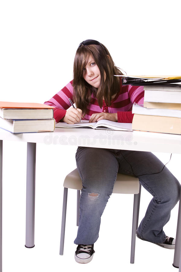 Download Young Student Studying For Exams Stock Image - Image: 17419497
