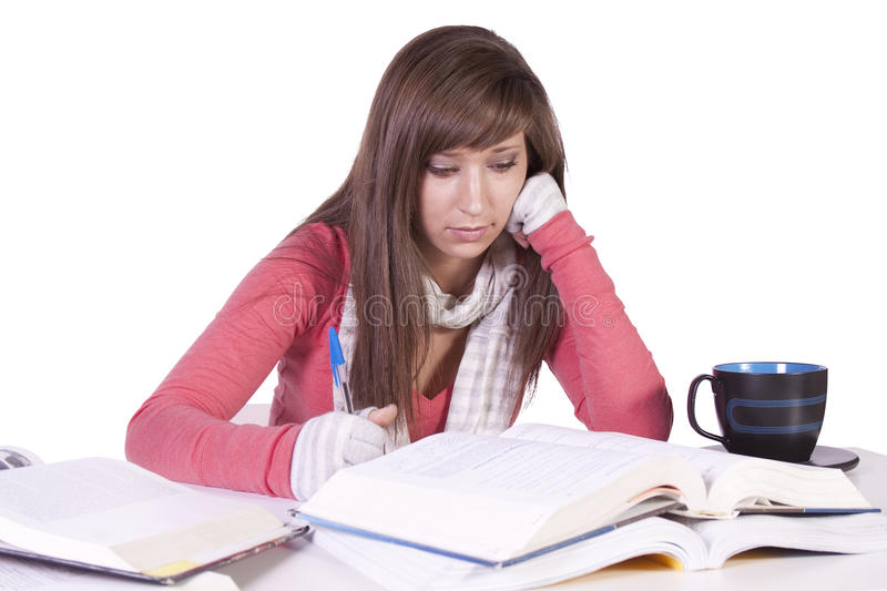 Download Young Student Studying For Exams Stock Image - Image: 17753825
