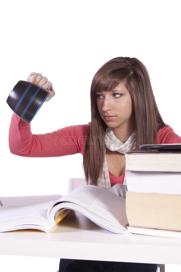 Download Young Student Studying For Exams Royalty Free Stock Photos - Image: 17865298