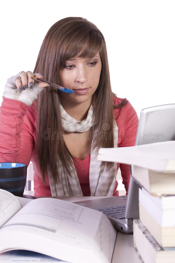 Download Young Student Studying For Exams Stock Photo - Image: 17865312
