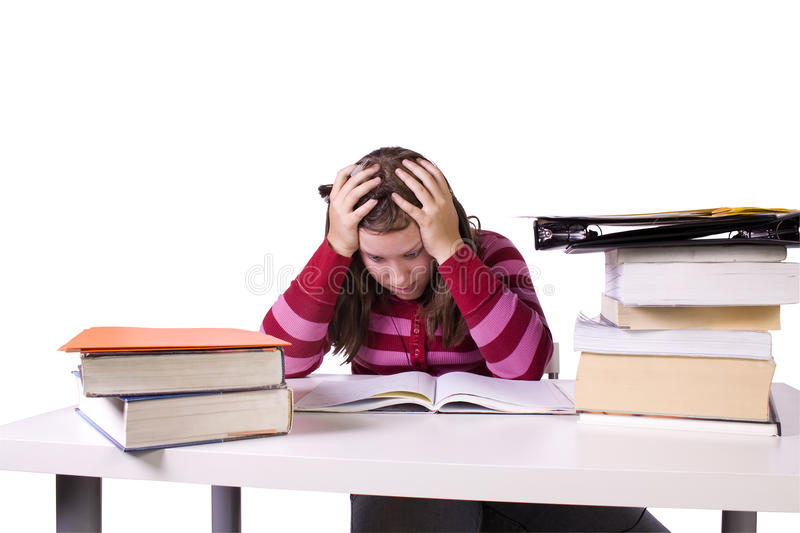 Download Young Student Studying For Exams Stock Photo - Image: 18745920