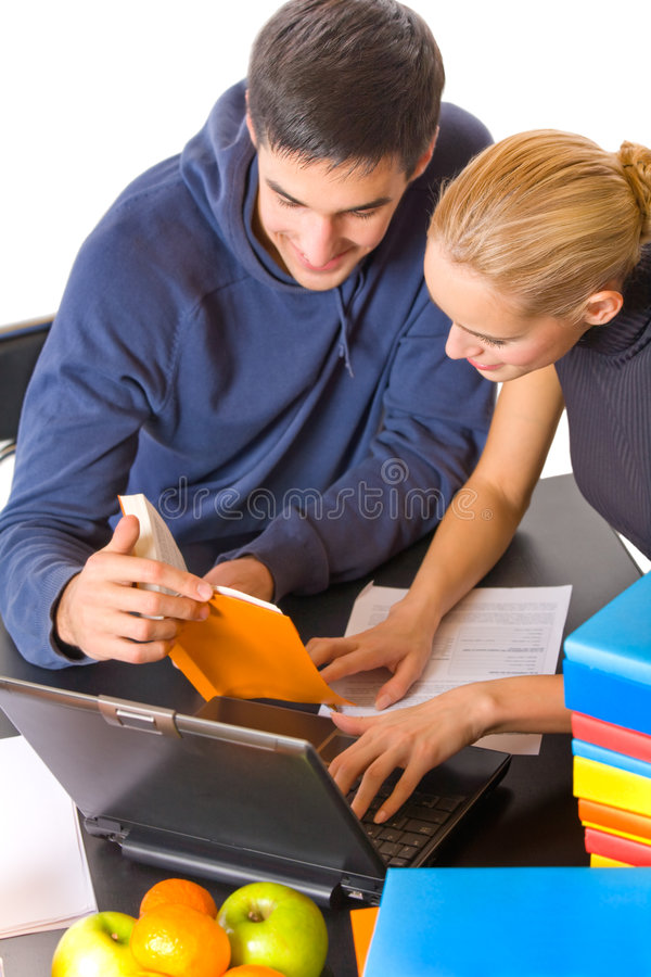 Young students royalty free stock photography