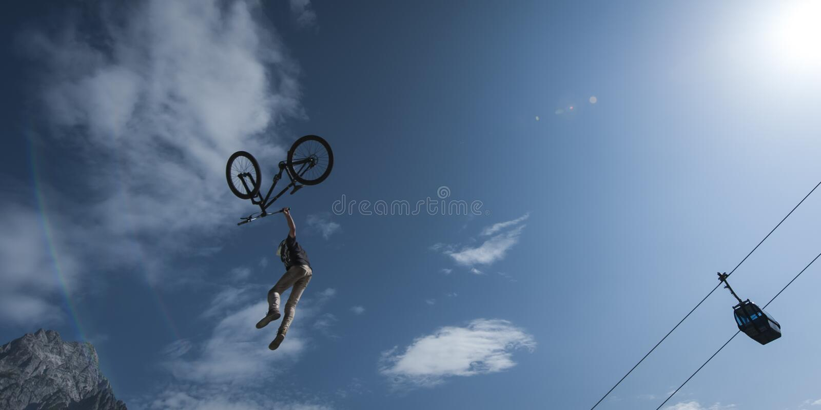 Download Young Stunt Dirt Biker Looses Control Over His Bic Stock Photo - Image: 26853632