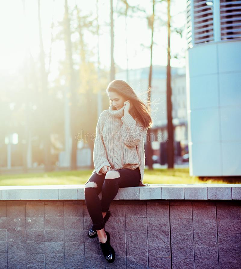 Young and stylish girl stock photography