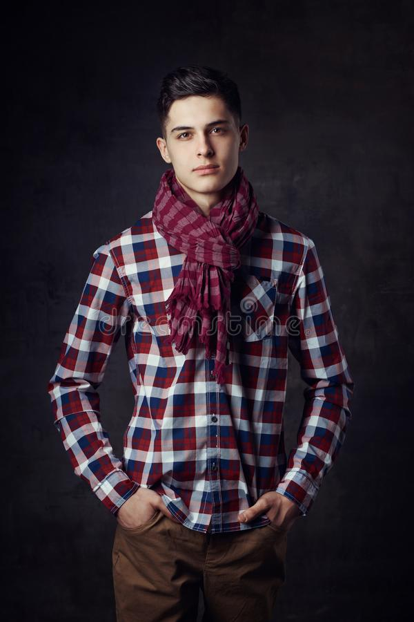 Young stylish handsome man stock photo