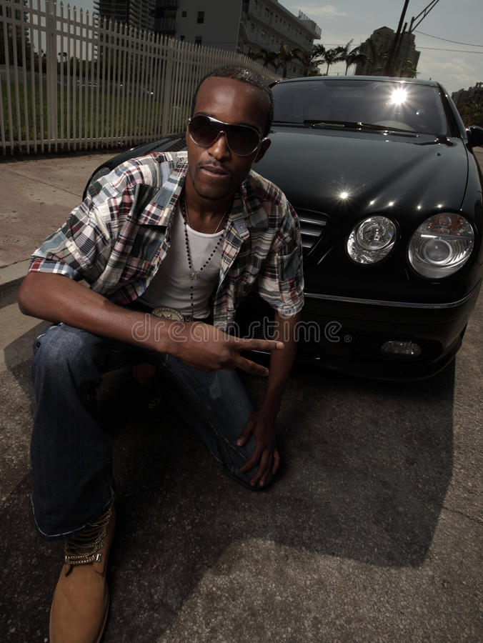 Stylish Young Male Posing By A Car Stock Photo Image Of Adult Outside 10019032