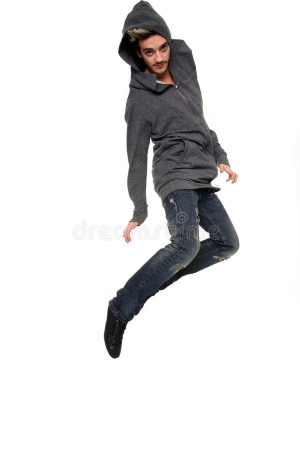 Young Stylish Man In The Air Royalty Free Stock Photography