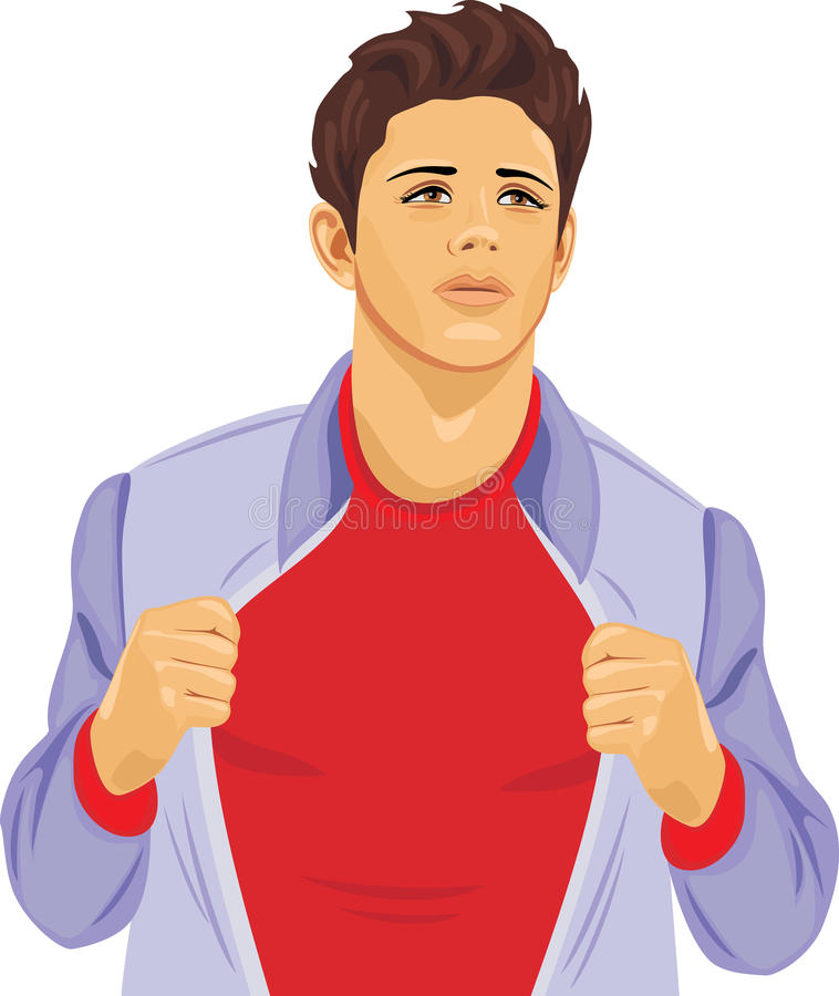 Young stylish man in an unbuttoned windbreaker royalty free stock photography