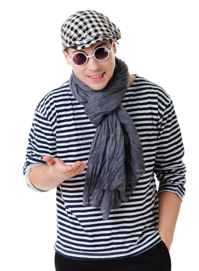 Yound handsome twister royalty free stock photo