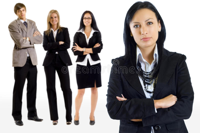 Young succesfull business team royalty free stock photos