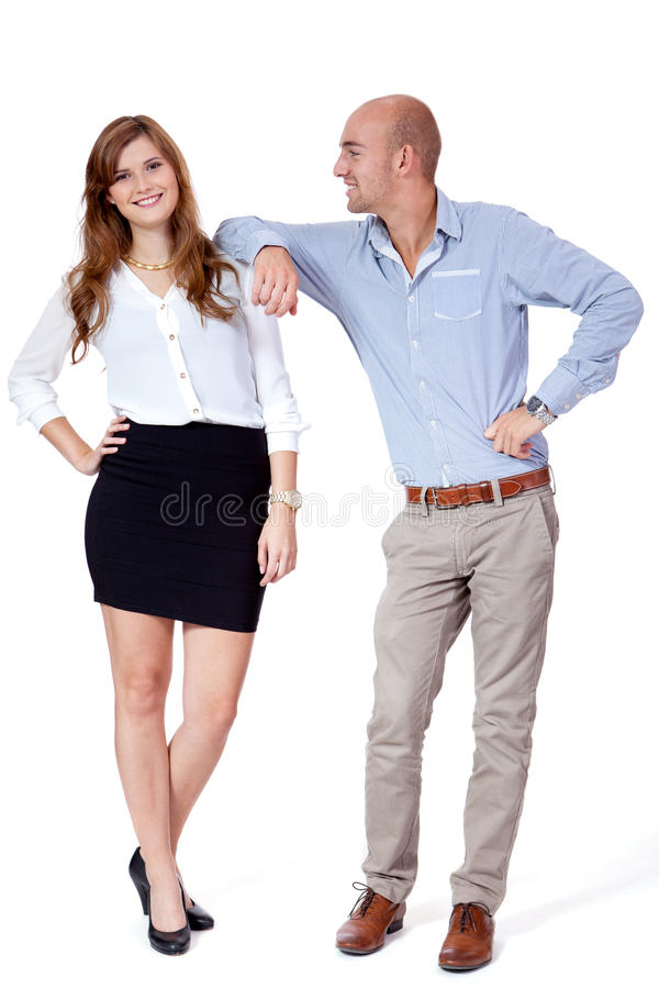 Young successful business team smiling portrait isolated royalty free stock image