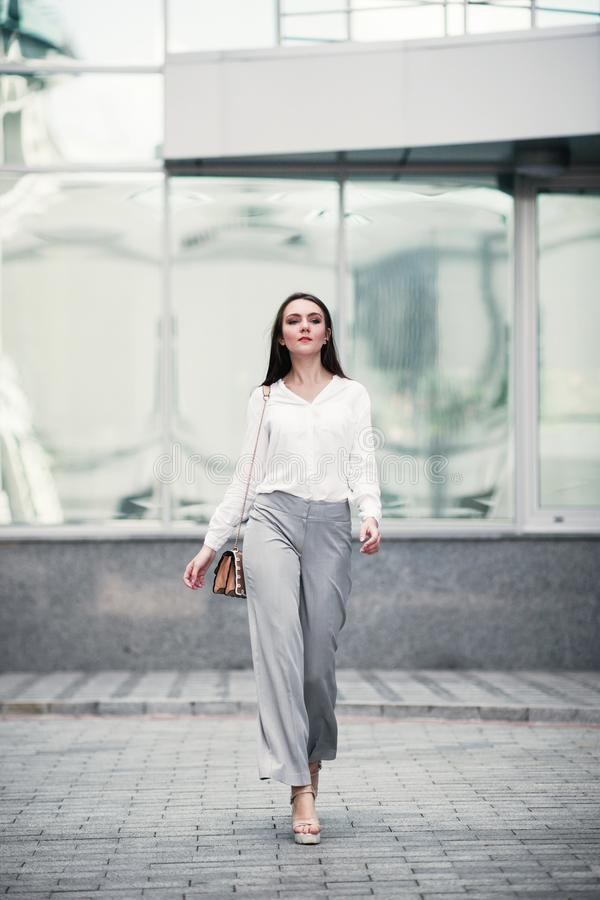 Successful business woman urban fashion lifestyle. Young successful business woman urban fashion lifestyle concept royalty free stock photography
