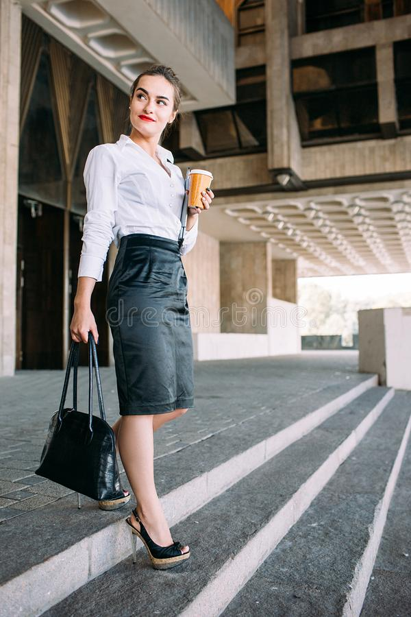 Successful business woman urban fashion lifestyle. Young successful business woman urban fashion lifestyle concept stock images