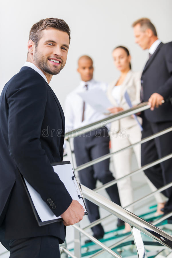 Young and successful. royalty free stock image