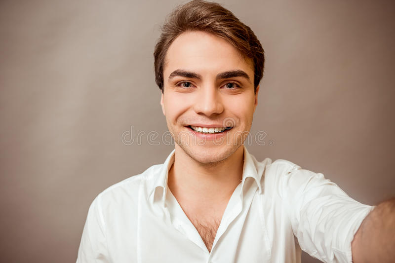 Young successful man stock image