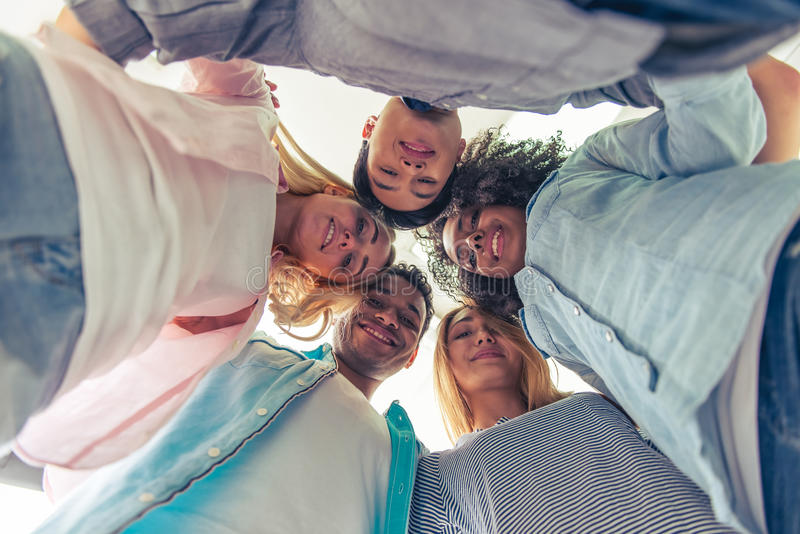Young successful team royalty free stock photography