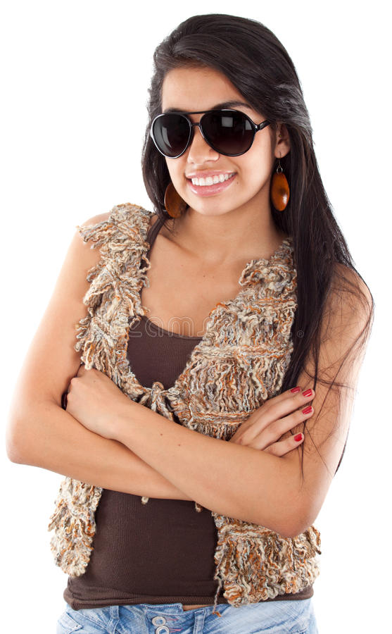 Young in sunglasses stock photo