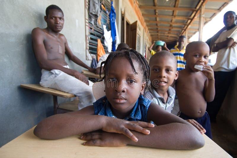 Young Survivors at a Church stock photos