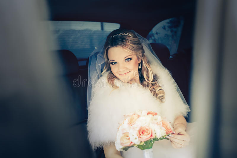 Young sweet bride royalty free stock photo