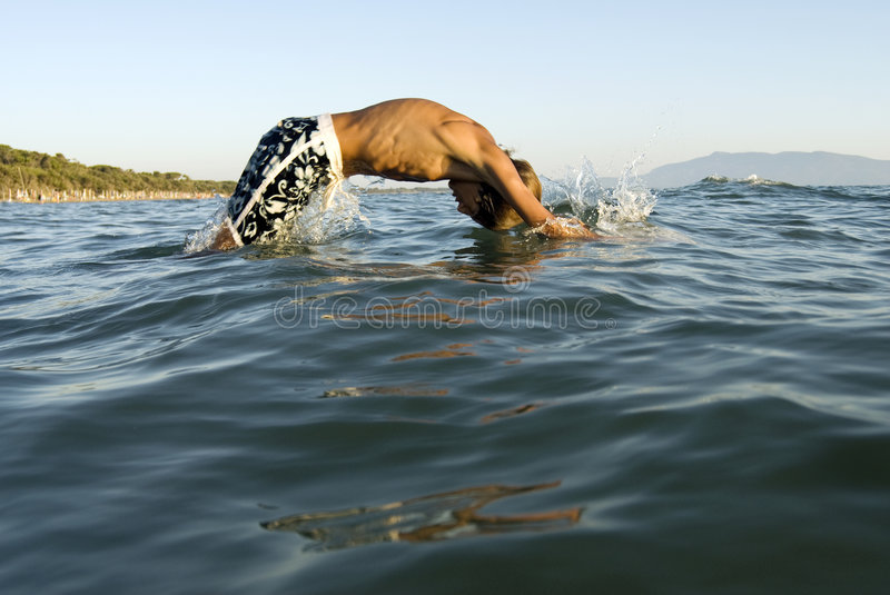 Young swimmer stock image