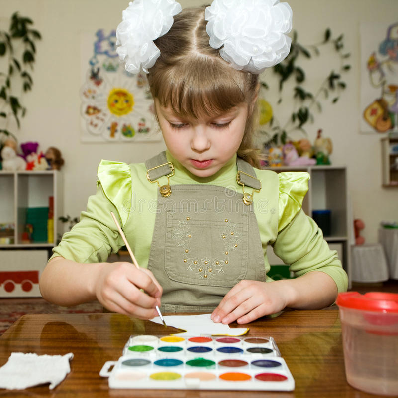 Young talent in the kindergarten royalty free stock photos