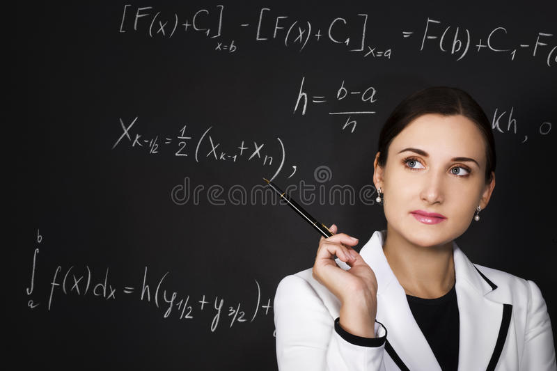 Young teacher royalty free stock image