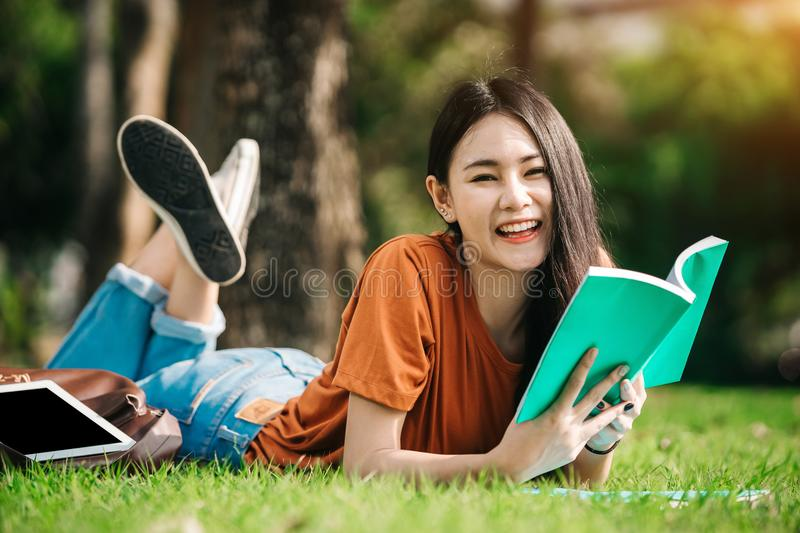 Young Asian student. royalty free stock photography