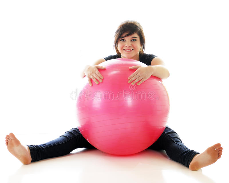 Download Young Teen, Big Ball stock photo. Image of happy, pink - 24387804