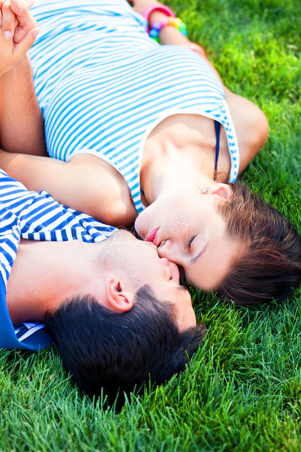 Young teen couple stock image