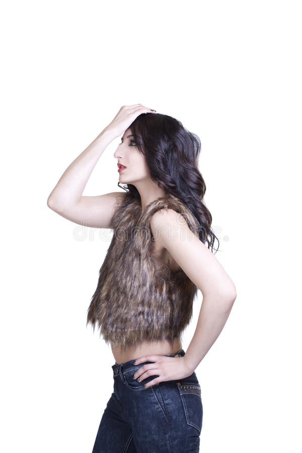 Download Young Teen East Indian Woman Jeans And Vest Stock Photo - Image: 23778970