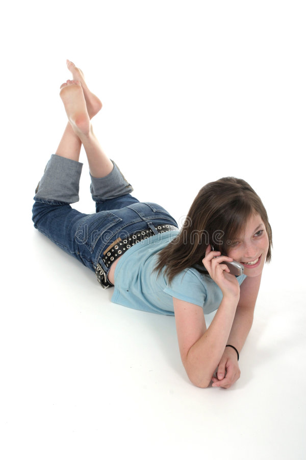 Free Young Teen Girl Talking On Cellphone 6 Royalty Free Stock Photo - 870935