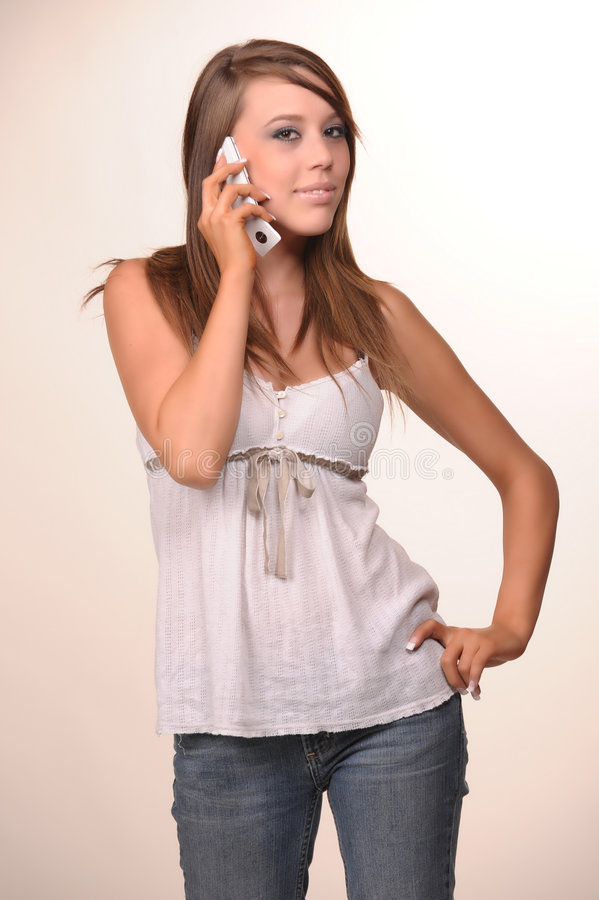 Young teen model royalty free stock image