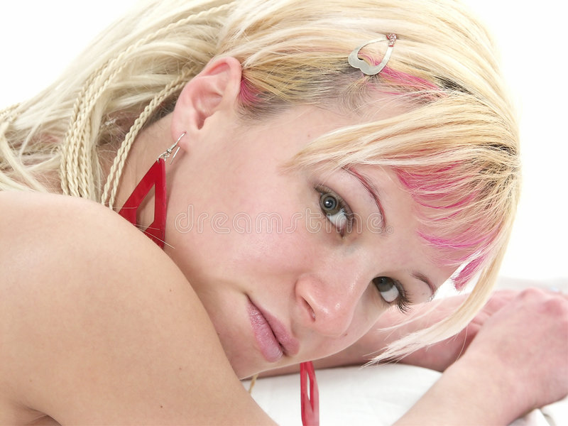 Download Young Teen Portrait With Red E Stock Photo - Image of friendly, tease: 500102